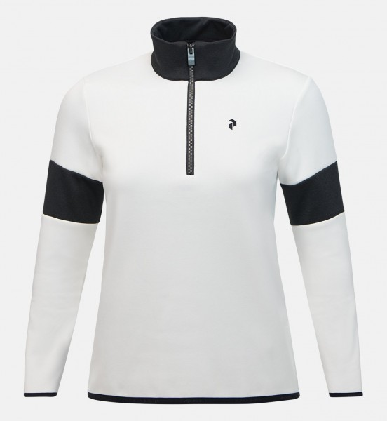 PEAK PERFORMANCE - BRECK HALF-ZIP pully - wit