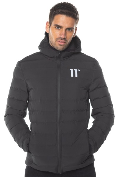 11 DEGREES - SPACE Puffer Jacket men - zwart