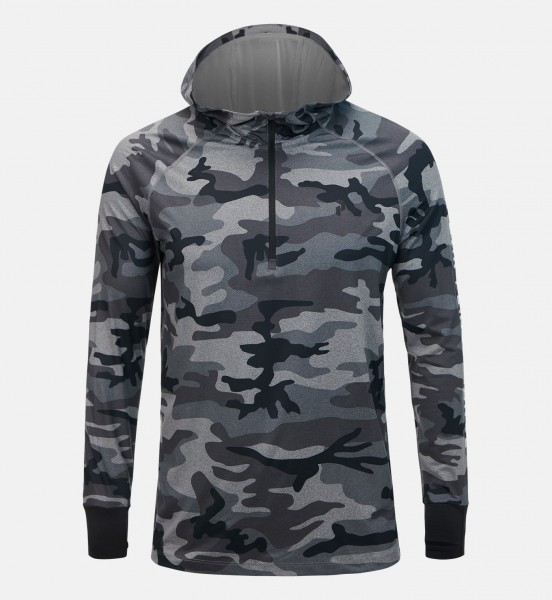 PEAK PERFORMANCE - SOFT SPIRIT PRINTED HOODED BASE-LAYER shirt - grijs