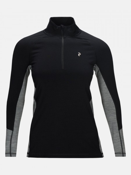 PEAK PERFORMANCE - MAGIC HALF ZIP pully - zwart