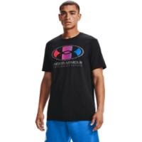 UNDER ARMOUR - MULTICOLOR LOCKERTAG t-shirt men - zwart