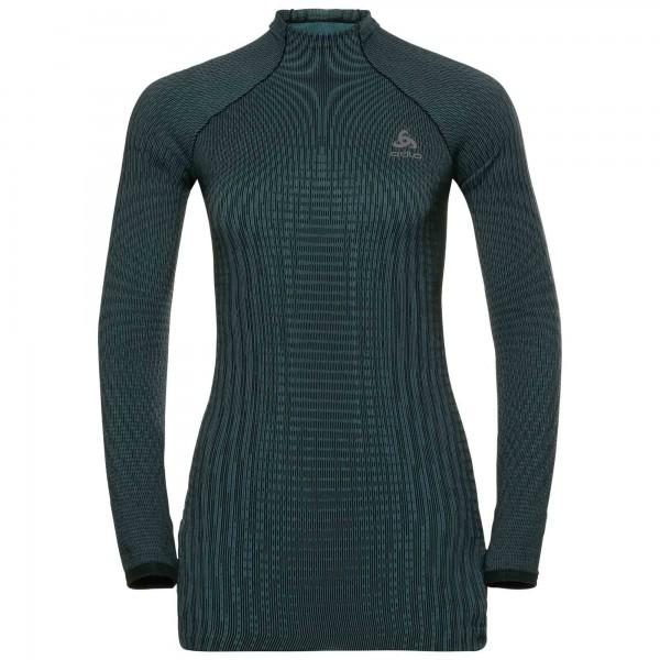 ODLO - FUTURESKIN thermoshirt women - zwart/groen