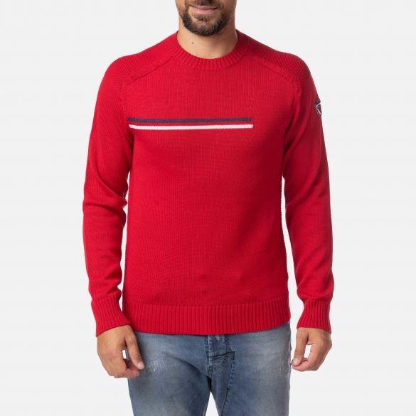 ROSSIGNOL - ODYSSEUS ROUND NECK ski-trui men - rood