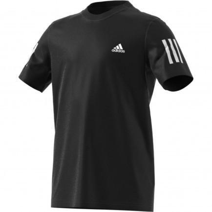 ADIDAS - CLUB 3 STRIPES T-shirt - zwart