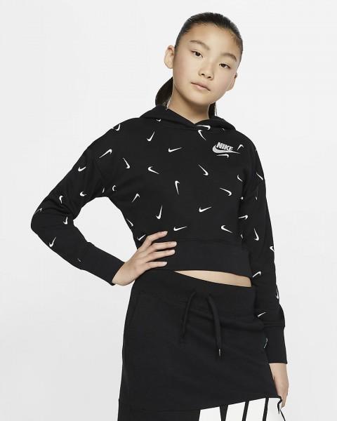 NIKE - SPORTSWEAR cropped hoodie girls - zwart