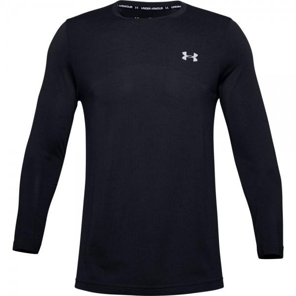 UNDER ARMOUR - SEAMLESS LONG shirt men - zwart