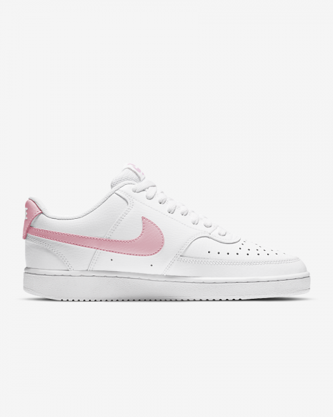 NIKE - COURT VISION LOW sneaker women - wit/roze