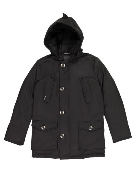CLASSIC 4 POCKET HERRINGBONE jas - zwart