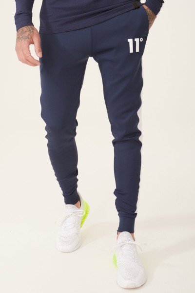 11 DEGREES - POLY PANEL Track Pants men - blauw/wit