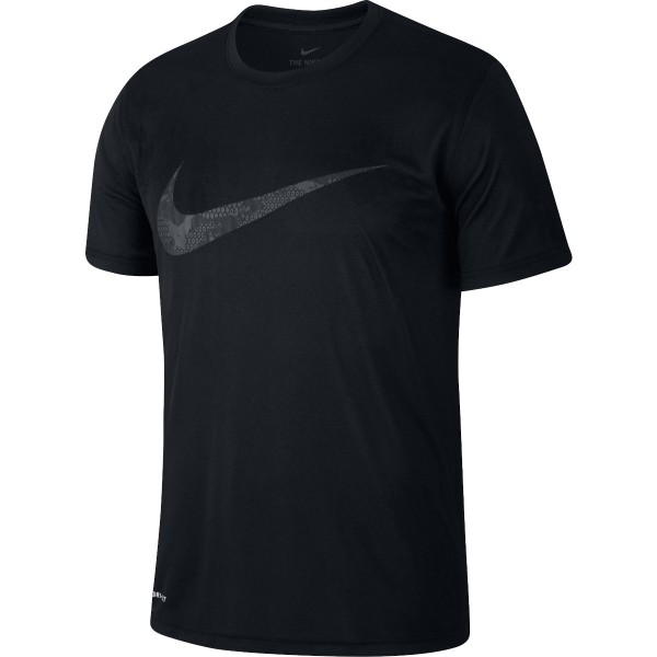 NIKE - DRI-FIT LEGEND SWOOSH T-shirt - zwart
