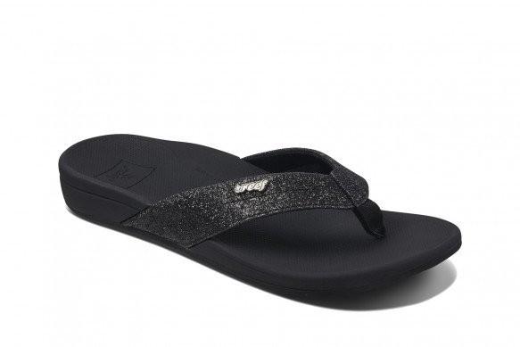 REEF - ORTHO SPRING slippers - zwart