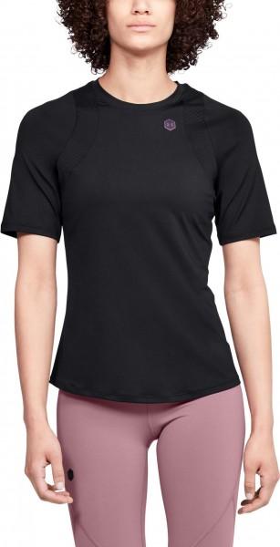 UNDER ARMOUR - RUSH t-shirt women - zwart