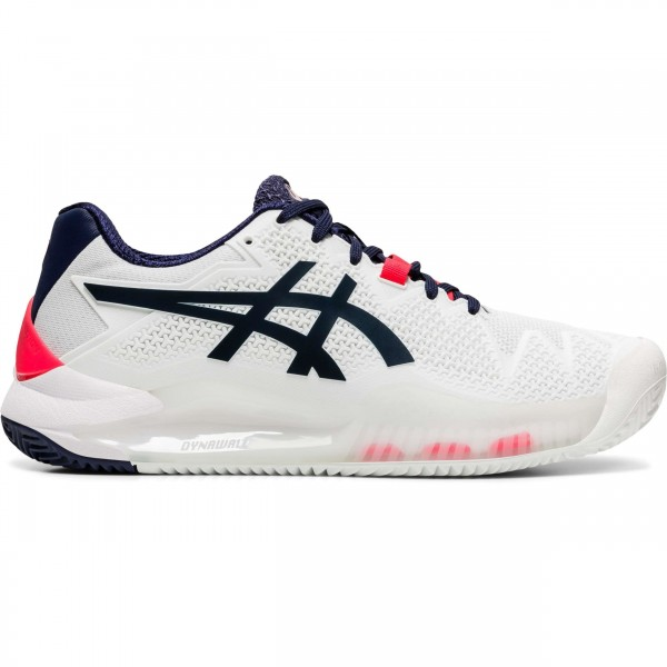 ASICS - GEL RESOLUTION 8 CLAY schoenen - wit