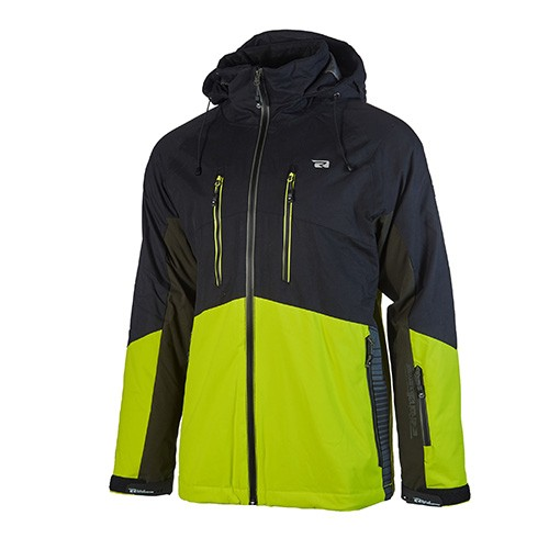 REHALL- CONNOR R ski jas - zwart - lime - Haarlem