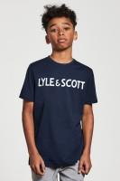 LYLE & SCOTT - LOGO t-shirt jongens - donkerblauw