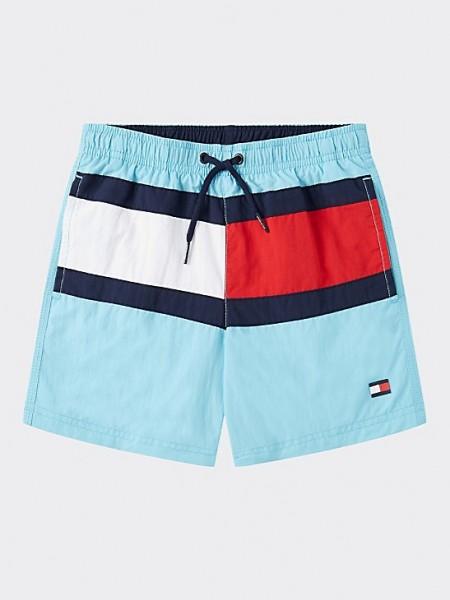 TOMMY Jongens zwemshort - Flag blauw
