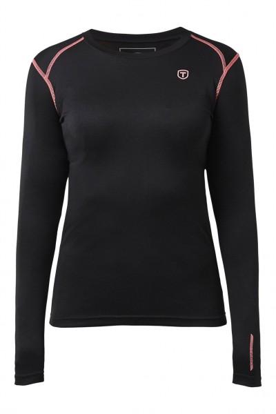 TENSON - BROOKE thermoshirt+broek women - zwart