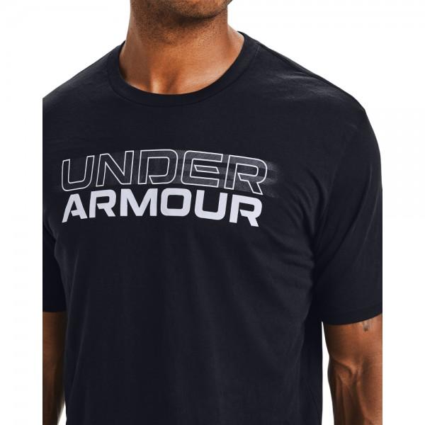 UNDER ARMOUR - BLURRY LOGO T-shirt men - zwart