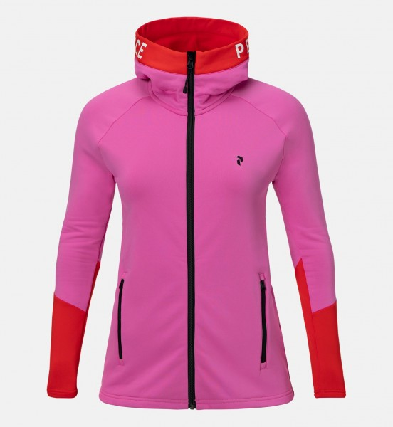 PEAK PERFORMANCE - RIDER ZIP HOOD vest - roze