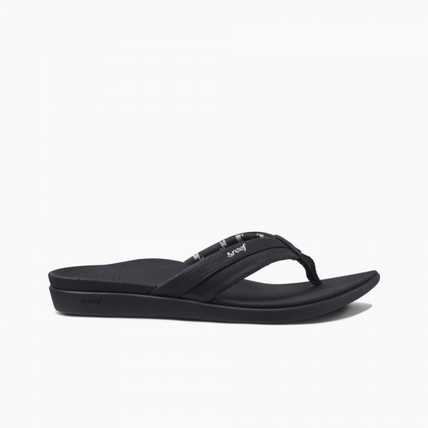REEF - ORTHO slippers - zwart