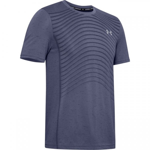 UNDER ARMOUR - SEAMLESS WAVE top - blauw