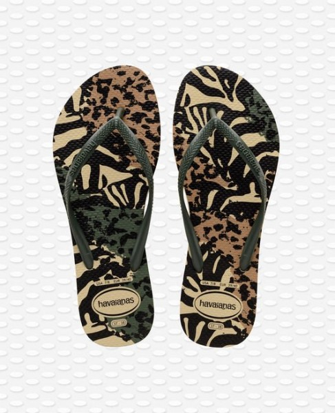 HAVAIANAS - Slim Animals Slippers women - groen