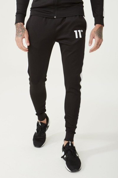 11 DEGREES - POLY PANEL Track Pants men - zwart/wit
