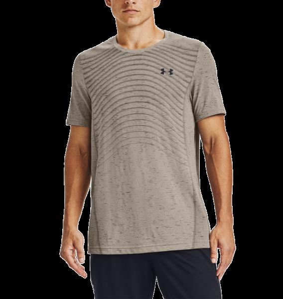 UNDER ARMOUR - SEAMLESS WAVE T-shirt men - bruin