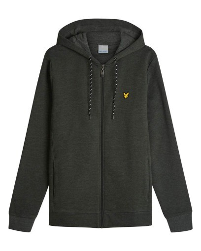 LYLE & SCOTT - HOODED FULL ZIP MID-LAYER vest - donker groen - Haarlem