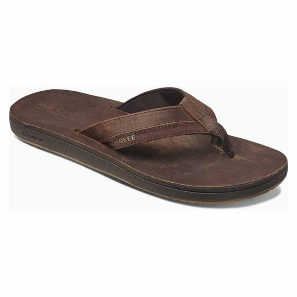 REEF - LEATHER CONTOURED slippers - bruin