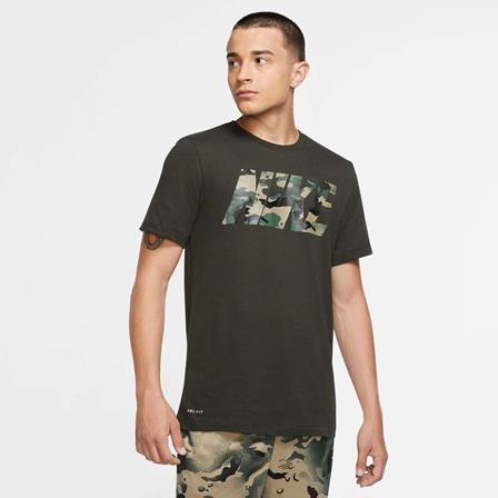 NIKE - DRY CAMO T-shirt men - groen