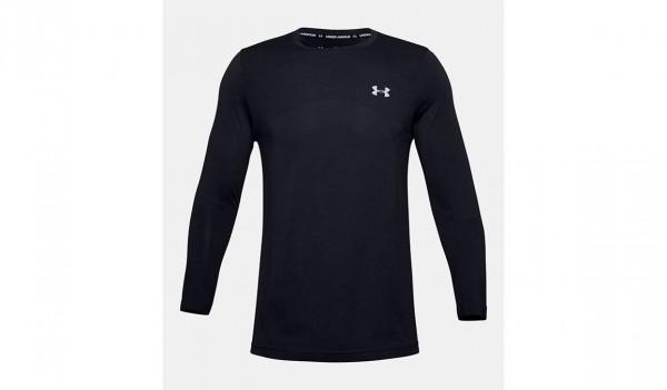 UNDER ARMOUR - SEAMLESS LONG shirt - zwart