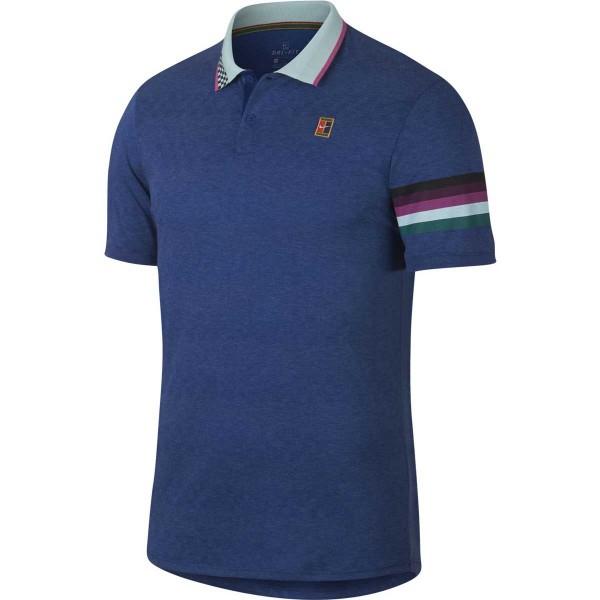 NIKE - COURT ADVANTAGE POLO T-shirt - blauw