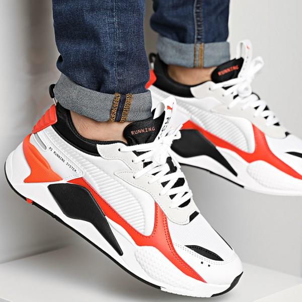 PUMA - RS-X MIX sneakers men - wit/oranje