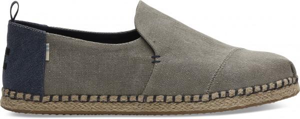 TOMS - CANVAS ESPADRILLES schoenen - grijs