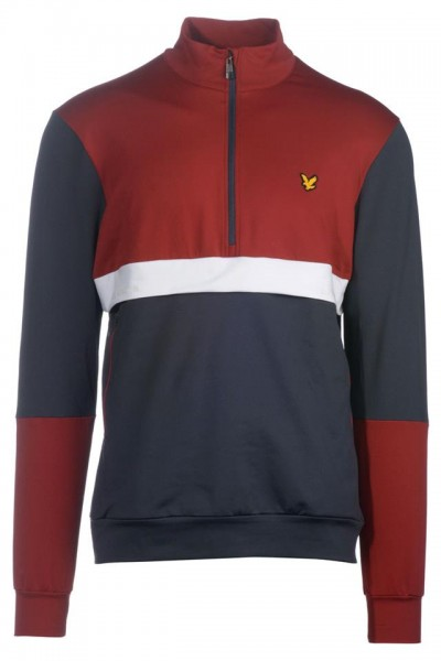 LYLE & SCOTT - TECH TRACK 1/2 ZIP vest men - donkerblauw