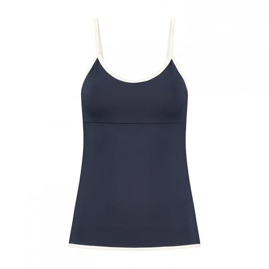 DEBLON - LUCY sporttop dames - donkerblauw/wit