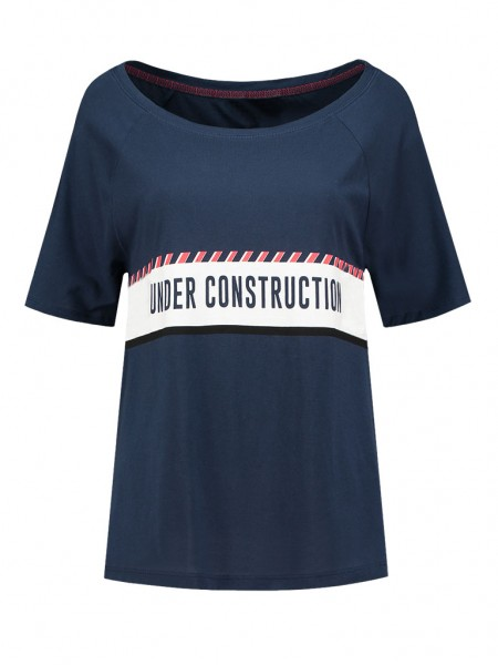 NIKKIE - UNDER CONSTRUCTION t-shirt women - donkerblauw