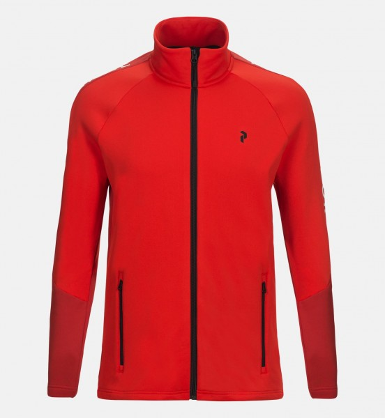 PEAK PERFORMANCE - STRETCH RIDER ZIP-UP vest - rood