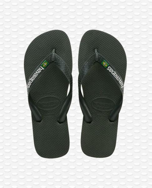 HAVAIANAS - BRASIL LOGO slippers - donkergroen