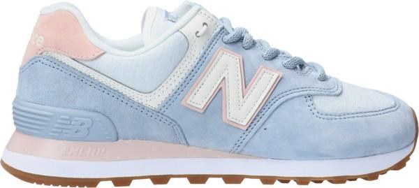 NEW BALANCE - WL574SUO Sneaker women - lichtblauw/roze