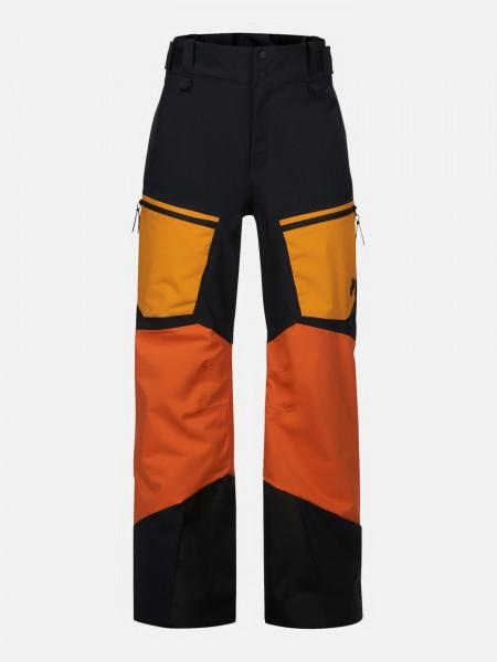PEAK PERFORMANCE - GRAVITY skibroek boys - zwart/oranje