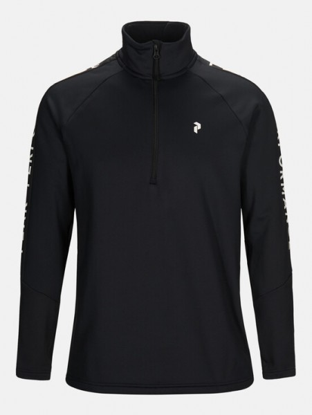 PEAK PERFORMANCE - RIDE HALF-ZIP pully - zwart