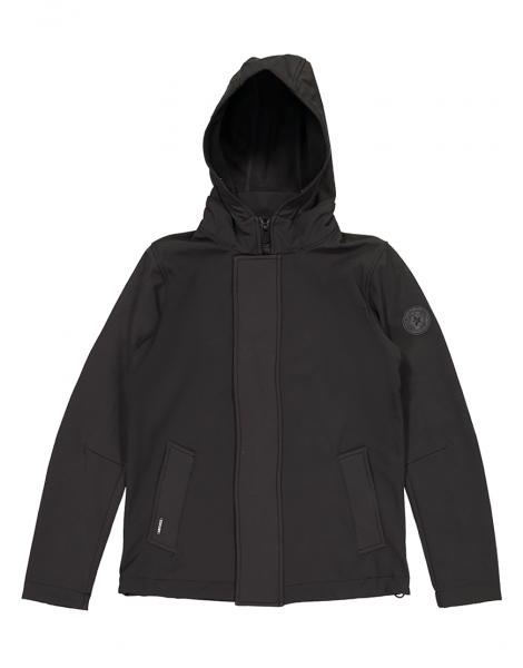 SOFTSHELL STRAIGHT jas - zwart