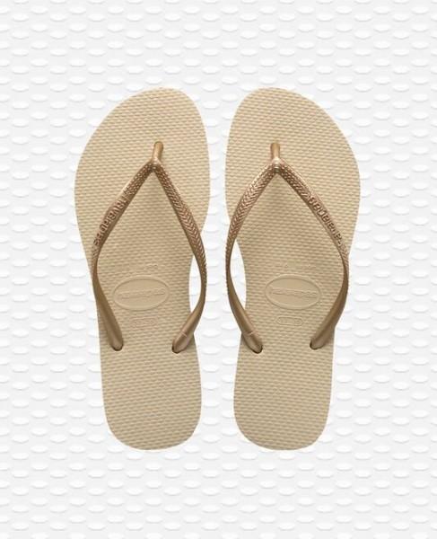 HAVAIANAS - Slim Slippers women - beige
