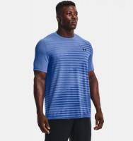 UNDER ARMOUR - SEAMLESS FADE sportshirt heren - blauw