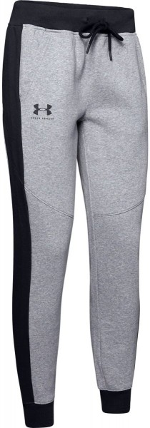 UNDER ARMOUR - RIVAL FLEECE broek - grijs