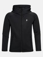 PEAK PERFORMANCE - RIDER ZIP HOOD JR - zwart