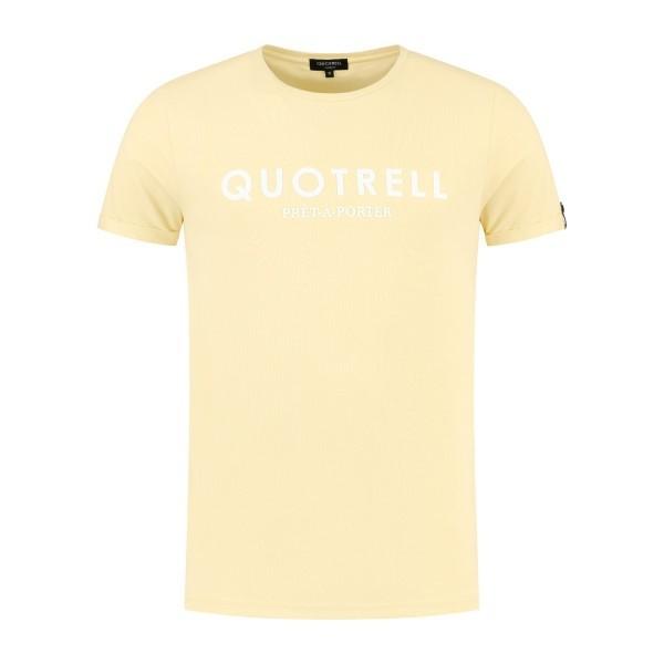 QUOTRELL - BASIC t-shirt - geel