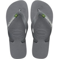 HAVAIANAS - BRASIL LOGO slippers men - grijs